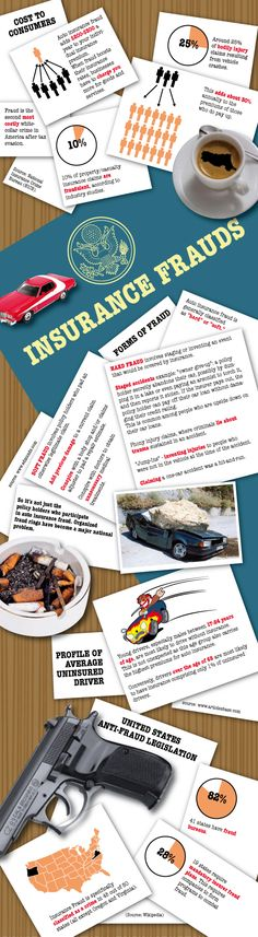 Car and Auto Insurance Frauds – Cause & Safety & Avoidance #infographic #Automobile