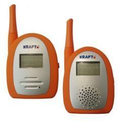 Kraft Lüks Bebek Dinleme Telsizi 800 Metre  Açık alanda 800 metre kapsama alanı  175 M2 Evin Her Köşesinde Sorunsuz Bebeğinizin Sesini Dinleyebilirsiniz.  LCD ekran ile bebeği gözlemleme imkanı  16 frekans düzeyi  2 kanal  Duyarlılık kontrolü  Kapsama alanı dışına çıkıldığında uyarı sinyali  Pil bittiğinde uyarı sinyali  Ürünle Birlikte 2 Adet Adaptör Bulunmaktadır.  Ürünle Birlikte 1 Telsiz İçin Şarjlı Pil Bulunmaktadır.  Garanti Süresi : 2 Yıl