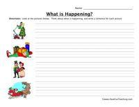 Writing Addition Sentences Worksheet  Addition worksheets