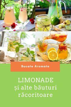 Rețete de limonade și băuturi răcoritoare cu ingrediente pe care le ai în casă sau în grădină. Frappe, Table Decorations, Drinks, Lemonade, Drinking, Beverages, Drink, Beverage, Dinner Table Decorations
