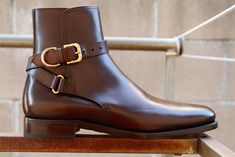 Macon Calf Boot Style Number: 4325820 $1500.00  This classic ankle boot is made in Italy from hand-burnished calfskin leather and finished with a heritage-inspired belt around the shaft.