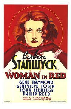 The Woman in Red (1935), Dir. Robert Florey, American Poster