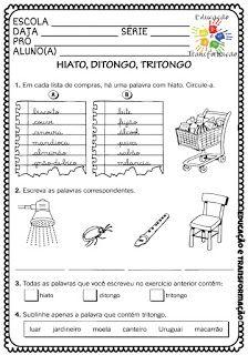 Encontro Vocalico Ditongo Tritongo E Hiato Ditongo