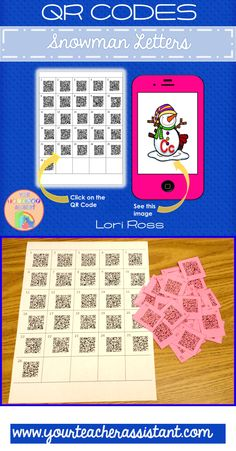 Use QR codes to have your ESL/ELL students brush up on letter identification. Scan the QR code to view an attractive snowman image with a letter to identify. Snowman Images, Ell Students, Letter Identification, Teacher Assistant, Qr Codes, Your Teacher, Elementary Teacher, Esl, Kindergarten