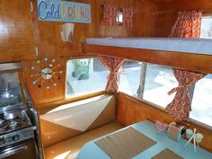 Astroflyte interior. Great profile of the RV on RetroRenovation.com!