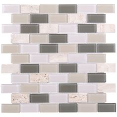 Mineral Tiles - Glass Mosaic Tile Travertine Ivory, $5.95 (http://www.mineraltiles.com/glass-mosaic-tile-travertine-ivory/)