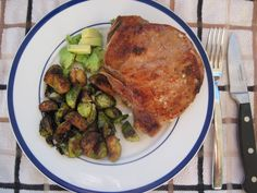 #paleo Zesty Ranch Pork Chops and Brussel Sprouts