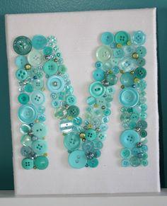 Button Monogram, 15 Creative DIY Button Projects - Always in Trend | Always in Trend