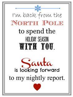 Elf Welcome letter// Elf I'm back Letter // by KarasKraftz