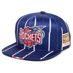 new product 196b3 480a5 Houston Rockets Mitchell   Ness Hardwood Classics Link Up Snapback Hat –  Navy, Your Price