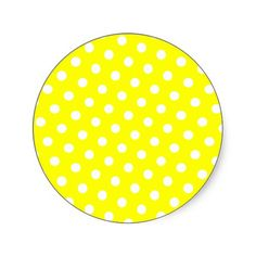 Shop Yellow and White Polka Dots Classic Round Sticker created by Personalize it with photos & text or purchase as is! Yellow Background, Online Gifts, Round Stickers, Sunny Days, Polka Dots, Classic, Yellow, Round Labels, Derby