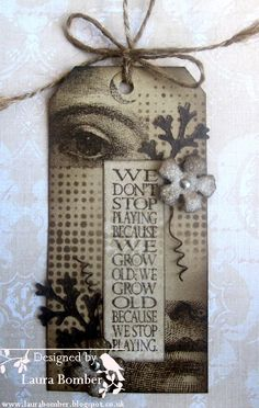 Laurart: Mask or Stencil for Fashionable Stamping Challenges using Tim Holtz layering stencils; Oct 2013