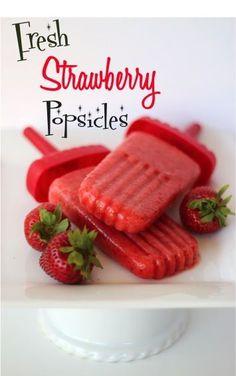 Fresh Strawberry Popsicles Recipe