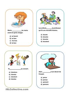 Jeu de conjugaison French Basics, Ap French, French For Beginners, Learn French, French Class, French Teaching Resources, Teaching French, Learning Through Play, Kids Learning