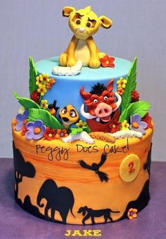 GEORGIES CIRCUS LION BIRTHDAY CAKE Birthday cake with lots of