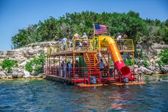 Lake Travis Boat Rental, Lake Travis Austin, Lake Dock, Boat Dock, Pontoon Boat Party, Pontoon Boating, Kids Boat, Party Barge, Lake Party