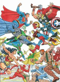 The JLA vs The Avengers by Mitch Ballard, I would be remiss if I ever excluded The Justice League and The Avengers from my list of heroes. These two teams helped me to escape boredom and to embrace my imagination.