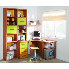 birou copii – Căutare Google Corner Office, Office Desk, Corner Desk, Ideas Hogar, Ideas Para, Desktop, Shelves, Space, Room
