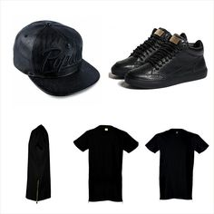 Get the look  #PopularDemand Strapback, #MasonGarments Sneakers & #HighSwag Oversize tee www.houseoftreli.com