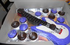 Cool Electric Guitar Birthday Cake... This website is the Pinterest of birthday cake ideas
