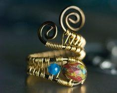 Rote Achat Ring Silber Gold Edelsteine Argentium von mossandmist