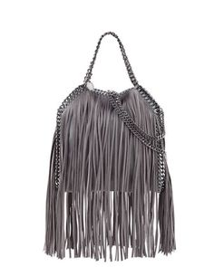 Falabella Mini Fringe Tote Bag, Light Gray by Stella McCartney at Neiman Marcus.