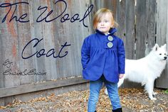 Wool coat tutorial. (there's a link to the pattern on Etsy)