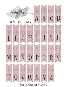 Free printables alphabet page for cake bunting.  It comes in yellow, pink, blue, and green pastels.