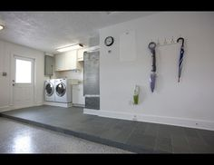 Garage Laundry Design Ideas, Pictures, Remodel and Decor Garage Laundry Rooms, Laundry Design, Garage Remodel, New Homes, Home Appliances, Contemporary, Galvan, House, Nest