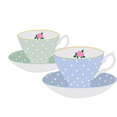 Teacups Art Print | Sally Elizabeth