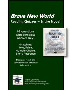 I have an essay to write for english on A BRAVE NEW WORLD! help?!?