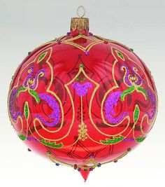 "Waterford Holiday Heirloom Ornaments Garnet Ball 5"" - Boxed"