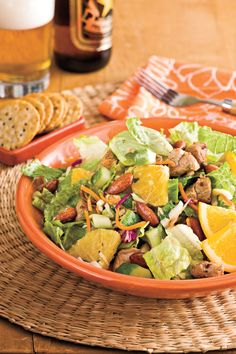 Spicy Pork-and-Orange Chopped Salad Recipes