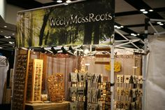Wooly Moss Roots our booth at stitches west
