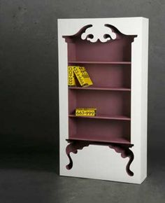 Everything about this Jaren Goh Vintage Shelf for Munkii is pretty basic bookcase stuff except for. Vintage Shelving, Vintage Bookshelf, Vintage Shelf, Vintage Cabinet, Creative Bookshelves, Bookshelf Design, Painted Furniture, Home Furniture, Furniture Design