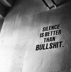 o silêncio é melhor que a besteira