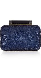 Wish I had a reason to buy this Diane von FurstenbergTonda crystal-embellished leather clutch