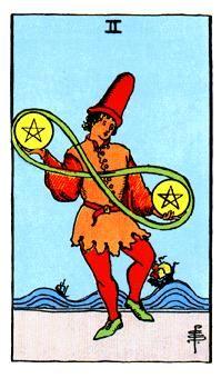 2 de Oros, Significado de las cartas del Tarot