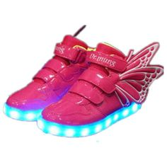 Butterfly LED Light Up Shoes For Kids