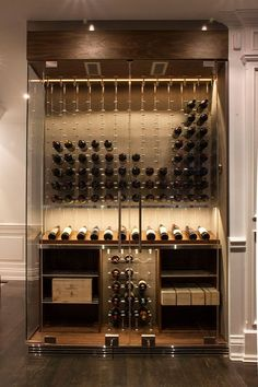 Wine Cooler - Modern Cable Wine System Wine Cellar by Papro Consulting Glass Wine Cellar, Home Wine Cellars, Wine Cellar Design, Wine Cellar Modern, Wine Bar Design, Wine Glass, Wine Bottles, Wine Shelves, Wine Storage