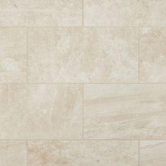 Crosscut Travertine Matte Porcelain Tile - 12 x 24 - 912500101 Travertine Shower, Travertine Floors, Porcelain Tile, White Porcelain, Japanese Porcelain, Cold Porcelain, Stone Look Tile, Bath Tiles, Kitchen Flooring