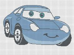 SALLY RACE CAR CROCHET PATTERN AFGHAN GRAPH