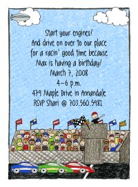 Toddler gym invitations a toddler gym party is the theme of this race car invitations start your engines all you race car fans this party invitation features a crowd cheering on their favorite race car driver as they stopboris Choice Image