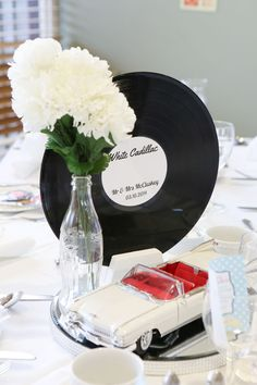 Becky and Dave budgeted £5000 for their 1950s wedding. They wanted a really special and unique day, but they didn't want to spend a fortune getting it! They were inspired by everything they mutually love for their retro theme.