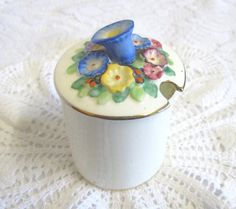 CIJ Tiny Plant Tuscan Art Deco China Preserves Pot, Moulded Floral Decoration, Hand Painted by TheWhistlingMan on Etsy Tuscan Art, Breakfast Tray, Rare Plants, Afternoon Tea, Preserves, Art Deco, Hand Painted, China, Scones