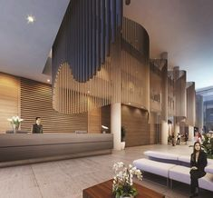 A leading Australian property developer renowned for its innovative approach to residential apartment design has revealed details of its much-anticipated new hotel brand Modern Hotel Lobby, Hotel Lobby Design, Architecture Design, Café Bar, Showroom Design, Hotel Suites, Hospitality Design, Office Interiors, Hotel Interiors