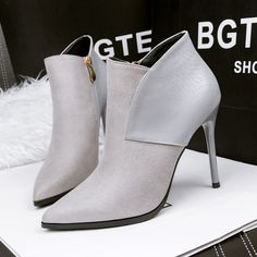522a53f2c 906 2 Fashion Women Ankle Boots Slim Sample Solid Color Snake Grain  Stiletto Sexy Pointed Suede High Heels Rain Boots For Women Wedge Booties  From ...