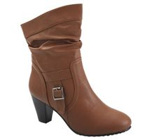 Boot out the ordinary with this chic buckled brown boot