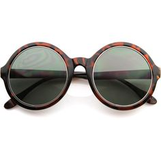 Retro Inspired Fashion Oversized Round Circle Sunglasses (32 BRL) ❤ liked on Polyvore featuring accessories, eyewear, sunglasses, sunglass, retro circle sunglasses, retro sunglasses, round sunglasses, oversized sunglasses and round glasses