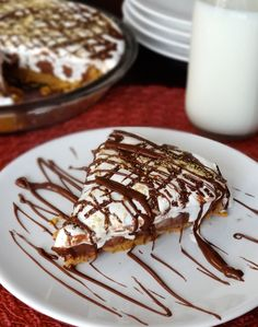 No Bake Nutella, Peanut Butter and Marshmallow Pie